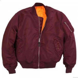 Kurtka MA-1 Flight Jacket - Alpha Industries - Burgundowa/Bordowa