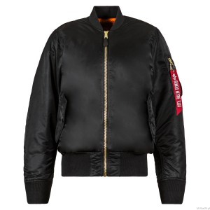 Kurtka MA-1 Flight Jacket - Alpha Industries - Black - Czarna
