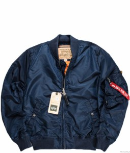 Kurtka MA-1 Flight Jacket - Alpha Industries - Replica Blue/Granatowa